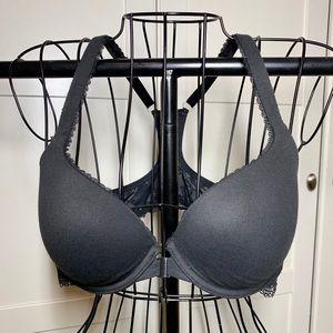 Victoria's Secret Racerback Bra Womens 36C Black